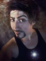 Tony Stark (Iron Man)- Truth is? I am Iron Man. by four-leaf-charm