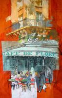 Cafe de Flore I by rpintor