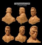 The Terminator Sculpture by Habjan81