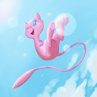 Mew Playing with Bubbles by allocen