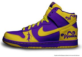 Willy Wonka Nikes by davedog101