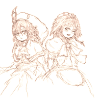Remilia and Sakuya by ReinedBloom