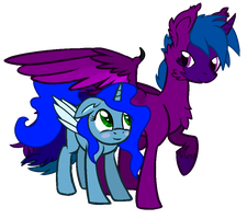 Corrus and Silvy by DraconianQueen