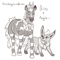 Angie and Dusty by the-b3ing