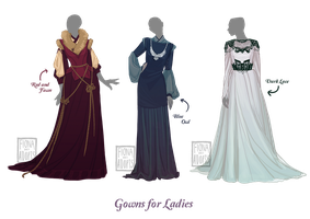 [closed] Outfit Adopt - Gowns for Ladies.. by fionadoesadopts
