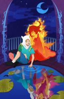 Mirror World: Finn and Flame Princess by flightangel