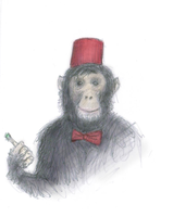 dr who chimp by Sarippus