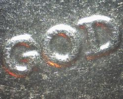 God (Dime) by creecreehoneybees