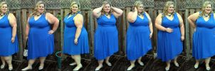 Heavy woman in a blue dress by EnergyToBeauty