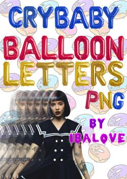 Crybaby balloon letters .png by ibalove