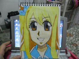 Copic Drawing: Lucy Heartfilia by MakiLoveCrysis
