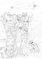 Energon on the rocks by hansime