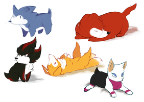 SONIC PUPS by renardchaton