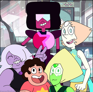 The Crystal Gems and House Guest by AccursedAsche