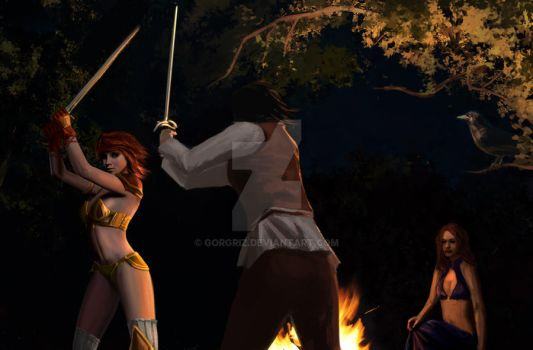 Training at the firecamp by Entar0178 by Gorgriz