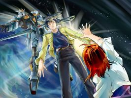 Gundam SEED A-STAR - freedom within space by csy5150