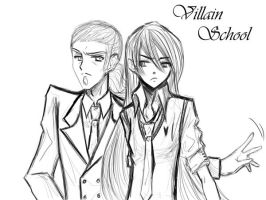 Villain school shego and Vlad by lmcsam