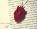 New one realistic heart from polymer clay. by Krinna
