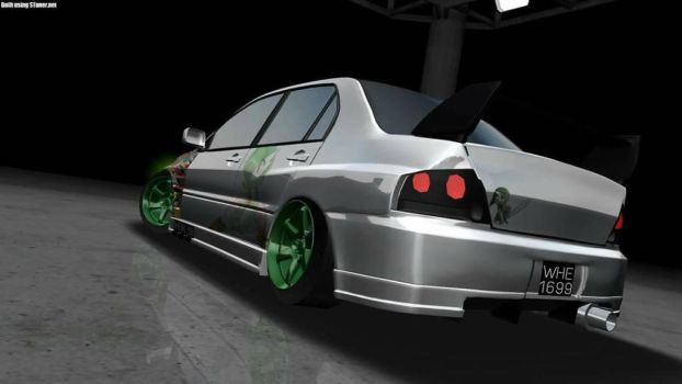 Mitsubishi Evo 8 with Gardevoir Livery by fai1699