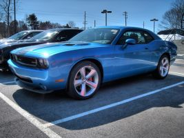 Blue Dodge Challenger 2 by RaySark