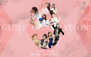 SNSD 5th Anniversary Wallpaper by GraPHriX