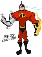 Jack-Jack INCREDIBLE grown up by mattcrap