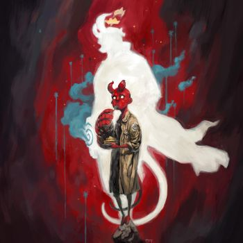 hellboy fanart by kian02