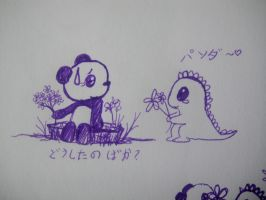 Dino and Panda Flower epi 1 by MelodicInterval