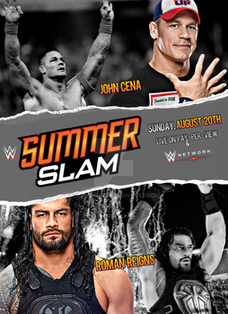 WWE Summerslam 2017 Poster by SidCena555