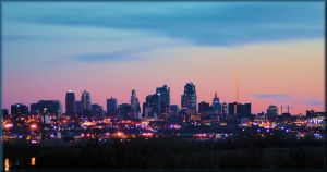 Kansas City At Sundown by TThealer56