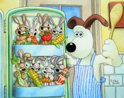 Gromit and Bunnies by ColbyBluth