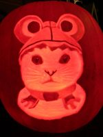 Wobbly Cat Pumpkin by melie97