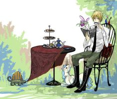 Hetalia-afternoon tea time by waterylt