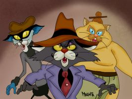 Karate Kat Bad Guys By Makinita by Makinita