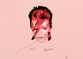 David Bowie by CommanderPinapplePie