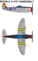 Republic P-47F Thunderbolt by bagera3005