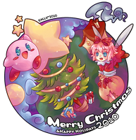 Kirby - Merry Christmas 2010 by ehllychan