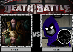 Raven Vs. Swain by luigiguy54