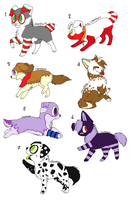 adoptables doggy's 3 points by iris-toby
