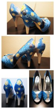 Shoes- Dr. Who/Starry Night by setsuna22
