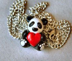 Panda Necklace by Madizzo