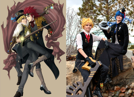 CCs - Steampunk Roxas/Ventus by wingedlight