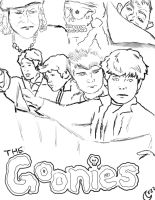 The Goonies lineart by silvermoon822