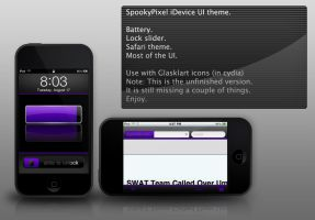 spookypixel idevice UI theme by gravedesires777