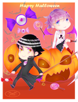 Kid and Crona Halloween by MisakiboysloveS7