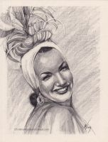 Carmen Miranda sketch by ChristinaMandy