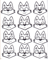 Fox Graffiti face expressions by CrashyBandicoot
