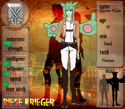 .:Riese Krieger:. Application- Chester Klein by AngelofDusk64