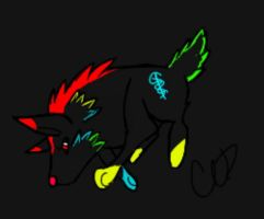 Neon the Wolf by BabyKichy
