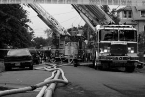 At The Fire Scene by patganz